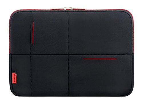 Samsonite Airglow Sleeves Borsa Messenger, 36 cm, 4 litri, Black/Red