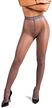 sofsy Polka-Dot Patterned Tights for Women - Semi Sheer Pantyhose   20 Den [Made in Italy]