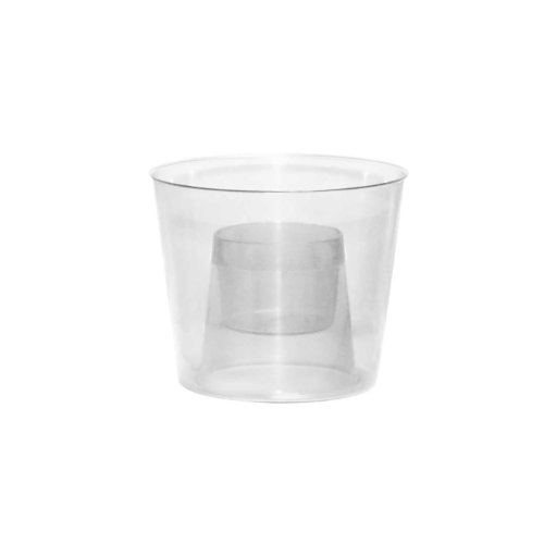 Party Essentials Hard Plastic Bomber Cups, 4-Ounce, Clear, 12-Count]()