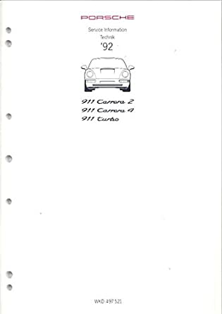 1992 Porsche 911 Carrera 2 4 Turbo 930 Service Manual