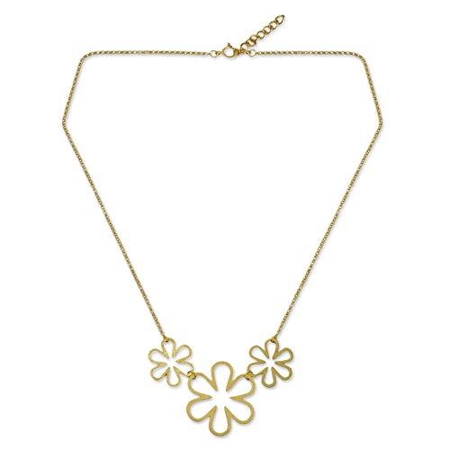 NOVICA 24k Yellow Gold Plated .925 Sterling Silver Pendant Necklace, 17.75