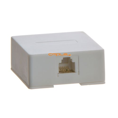 Cmple - Phone Surface Mount Box 6P6C-1port-WHITE