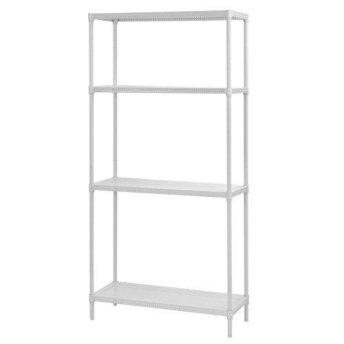 Muscle Rack PWS351471-4W Steel Wire Shelving, 4 Adjustable Shelves, 330 lb Per Shelf Capacity, 71 Height x 35 Width x 14 Depth, White