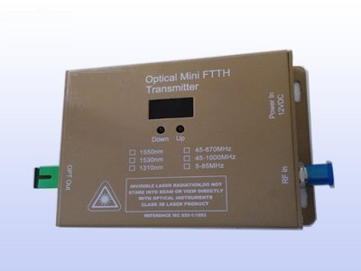 er Mini Transmitter - 10mW FTTX - Wall Mounted - 1310nm - Commercial QUALITY (Mounted Transmitter)