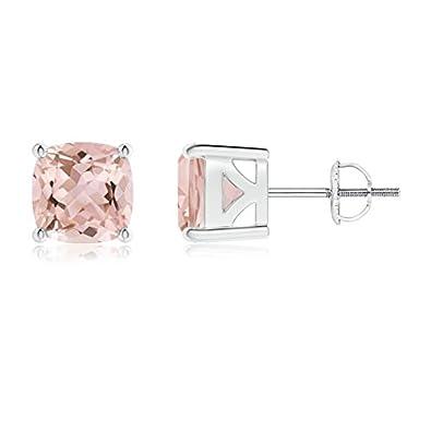 Angara 4 Prong Basket Setting Diamond Stud Earrings in Platinum 862cgW1blx