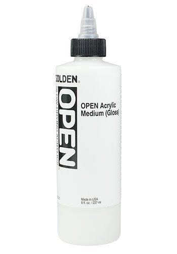 - Golden Open Acrylic Medium, 8 Ounce, Gloss