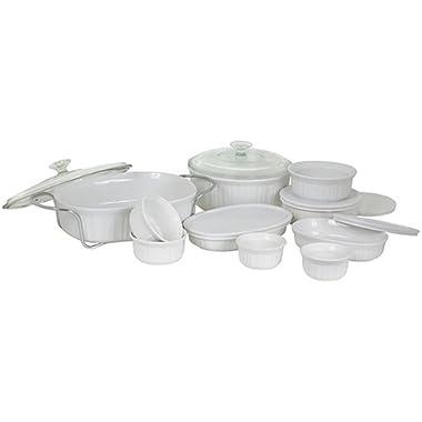 CorningWare French White 17-Piece Bake and Serve Set