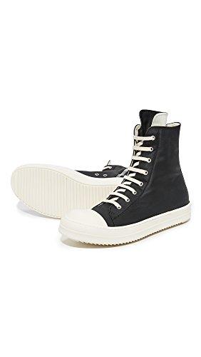 Rick Owens DRKSHDW Men's Rubber Cotton Cap Toe Sneakers, Black/Milk, 41 EU (8.5 D(M) US Men) by Rick Owens DRKSHDW (Image #5)