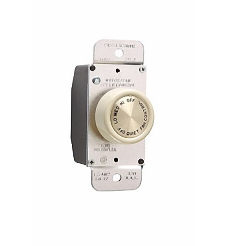 Legrand - Pass and Seymour 94003I Ivory De-Hummer 1.5A Rotary 3-Speed Fan Control by Pass & Seymour