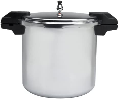 Mirro 92122A Polished Aluminum 5 10 15-PSI Pressure Cooker Canner Cookware, 22-Quart, Silver