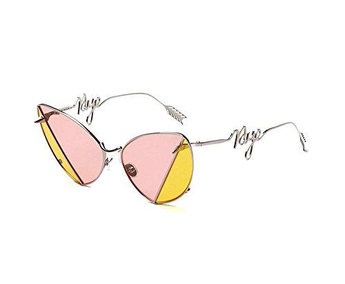 QMOT Halloween Sunglasses Bicolor Ocean Sunglasses (Yellow color, - Mens Sunglasses Hermes