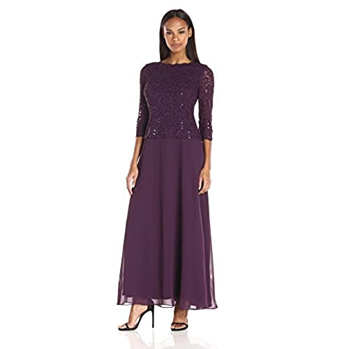 Purple Evening Gowns with Sequins: Amazon.com