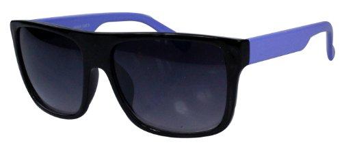 soleil style differentes de couleurs 80's monture Bleu Lunettes retro Wayfarer Noir 54Rxw