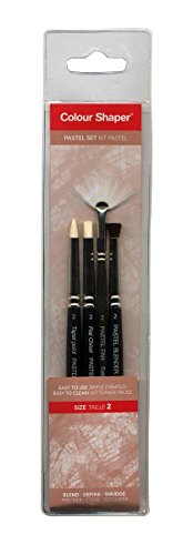 Forsline and Starr Painting Tool and Pastel Blending Sets assorted soft pastel no. 2 set of 4 ()