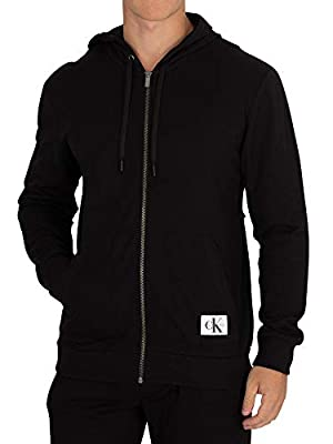 Calvin Klein Men's Full Zip Hoodie, Black