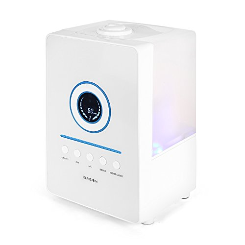 KLARSTEIN Monaco • Ultrasonic Humidifier • Ionizer • Air Purifier • Built-in Filter • Bacteria, Odor, Dust Remover • Blue LED Display • Timer Function • White