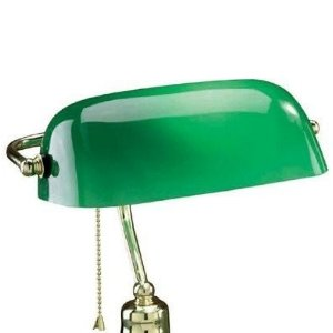 Upgradelights Replacement Glass Bankers Lamp Shade Green Desk