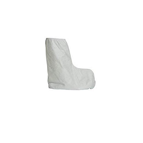 DuPont TY454SWH00010000 Tyvek TY454SWH 18'' Boot Covers with Elastic Top, White, One Size Fits Most (Pack of 50) by DuPont