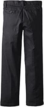 Dickies Khaki Big Boys' Flex Waist Slim Stretch Pant, Black, 10 1