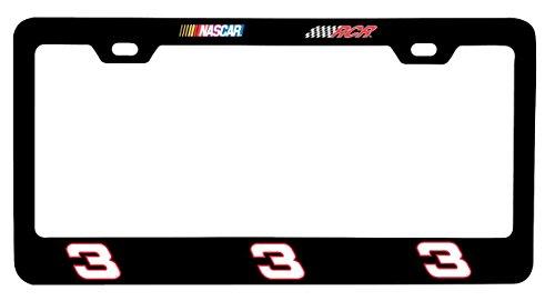 Dale Earnhardt Sr #3 CUSTOM Color METAL Chrome License Plate Tag Frame Cover Nascar - Sr Clothing Custom