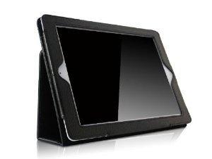 Ruban iPad 2/3/4 Case - Folio Stand Smart Cover Case for Apple iPad 2 / iPad 3 / iPad 4 with Retina Display with Auto Wake / Sleep Feature, Black