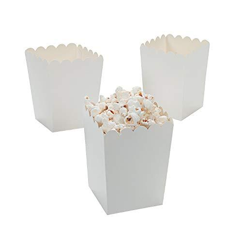 Mini White Popcorn Boxes (24 Pack) 3