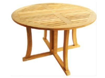 Atlanta Teak Furniture 48 Round Teak Folding Dining Table With Drop Leaf