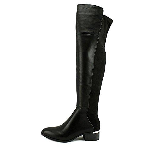 Fabric Toe III Fashion Over Womens Boots Knee Black Rene Bar Round B7qt44