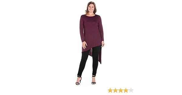 Sizes 1XL-3XL Made in USA 24seven Comfort Apparel Sleeveless Asymmetric Plus Size Tunic Top