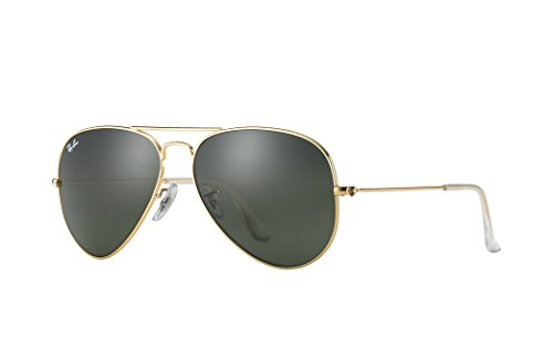 Ray-ban Gold Aviator Sunglasses RB 3025 L0205 58mm +SD Glasses +Cleaning - Cleaning Ban Ray