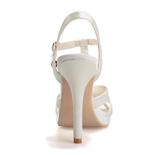 L@YC 5915-18 Sandalias De Boda Para Mujer / Hebillas De Noche Tacones Finos De Oficina Y Carrera Champagne