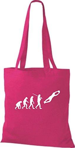 Krokodil - Bolso de tela de algodón para mujer rosa - rosa