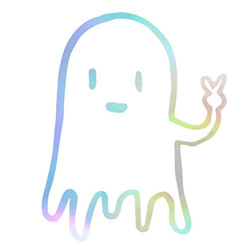 ANGDEST Halloween Ghost Halloween (Hologram) (Set of 2) Premium Waterproof Vinyl Decal Stickers for Laptop Phone Accessory Helmet CAR Window Bumper Mug Tuber Cup Door Wall Decoration ()
