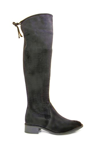 Suede The Flat Boots Knee Over Stretch Women's 21100 MIRALLES Black PEDRO 6FqXw0v0