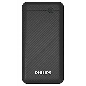 Philips DLP1710CB Fast Charging Power Bank 10000mAh with Lithium Polymer Battery Black (Dual USB Output Port, with Micro…