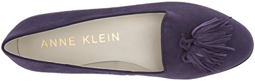 Anne Klein Women's Devina Suede Loafer Flat Purple B2Cxwl
