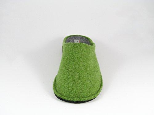 Pantofole da Donna Invernali Tinta Unita Verde