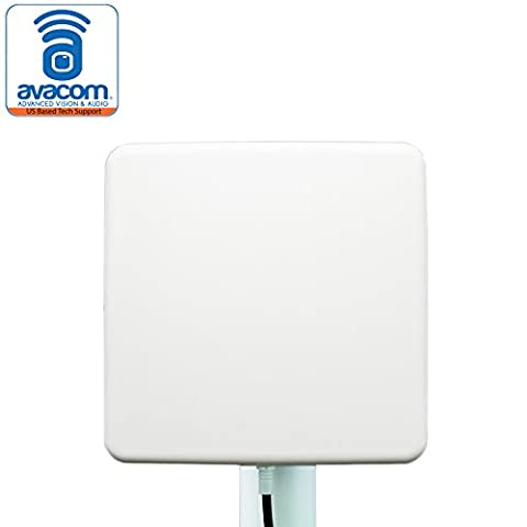 AVACOM Long Range WiFi Extender Panel Antenna for Wireless IP Camera and Router 2.4GHz 14dBi Directional Antenna 802.11n/b/g, SMA Male (Directional Wifi Antenna Outdoor)