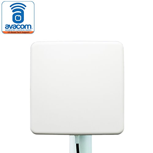 AVACOM Long Range WiFi Extender Panel Antenna for Wireless IP Camera and Router 2.4GHz 14dBi Directional Antenna 802.11n/b/g, SMA Male Connector ()