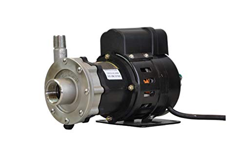 Chugger Pumps CPSSMAX-CI-1 Max Stainless Steel, Air Cooled Max Series Home Brew Beer Pump, 0.125 hp, 115 ()
