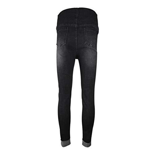 Over Bump The Inverno Hzjundasi Maternità Abiti Jeans Elegante Nero Pantacollant Autunno Premaman Denim Pantaloni qq8vwH