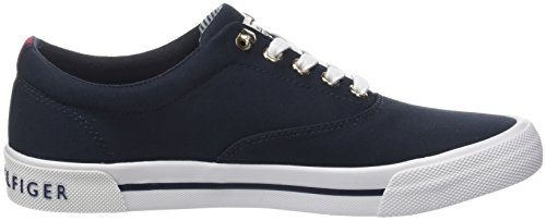 Sneakers Top 403 Textile Midnight Low Tommy Blue Heritage Hilfiger Women's UZXcUqSBY