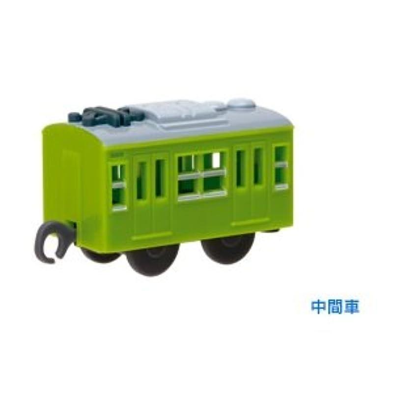 【#-123】녹색(미도리)의 야마노테선50주년 SP103 계 안녕 전철 운전 헤드 마크 부착(중간)캡슐 프라 레일(커브 프라)(*)