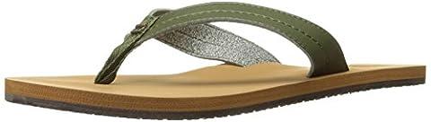 Billabong Women's Azul Flip Flop, Seagrass, 10 M US (Green Flip Flops)