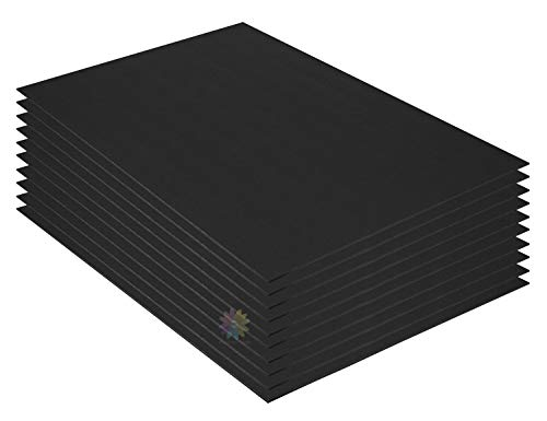 Mat Board Center, Pack of 10 3/16 BLACK Foam Core Backing for sale  Delivered anywhere in USA