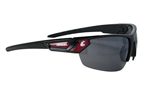 Washington State Cougars Black Red Sport Mens Womens Sunglasses WSU - Sunglasses Wsu