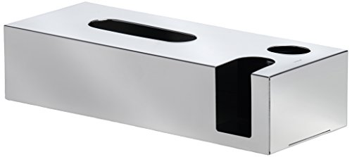 Blomus Tissue Dispenser (blomus 68690 Polished Tissue Box and Dispenser for Cotton Buds and Facial Pads)
