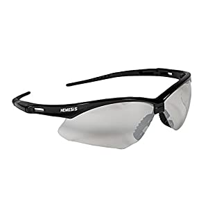 Jackson Safety 25685 V30 Nemesis Safety Glasses, Indoor/Outdoor Lenses with Black Frame (Pack of 12)