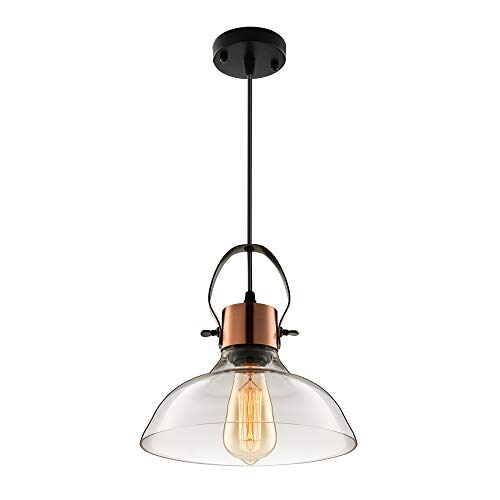 Copper And Crystal Pendant Light in US - 7
