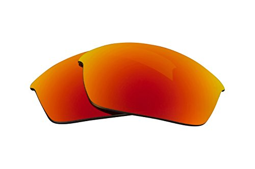 Replacement Lenses Compatible with OAKLEY FLAK JACKET Polarized Red Mirror ()